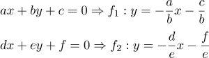 Công thức Hệ phương trình