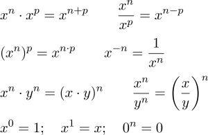 Công thức Lũy thừa bậc 2