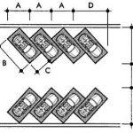 Kích thước tiêu chuẩn bãi đỗ xe chéo góc 45 độ