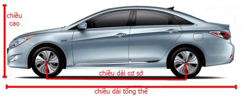 Kích thước tổng thể xe là gì?